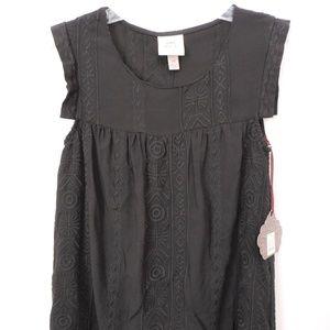 NWT Knox Rose Boho Embroidered Peasant Dress